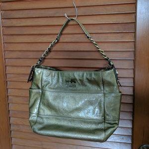 Coach Tribeca Metallic Gold Shoulder Bag